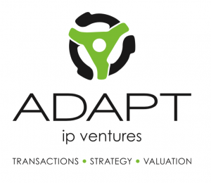 Adapt IP Ventures - logo - IP transaction, strategies, and valuation